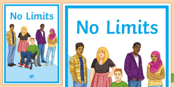 No Limits A4 Display Poster - Disability Awareness, disability, special needs, discrimination, respect