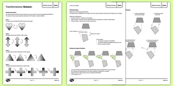 Maths Need To Knows Rotation - maths, need to know, rotation, symmetry, ks3, key stage 3