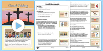 Good Friday Assembly Pack - Easter, Easter Story, Good Friday, assembly, pack