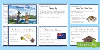Waitangi Day Celebration Ideas Information Cards - Waitangi Day, Treaty of Waitangi, te tirit o waitangi