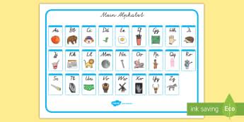 Mein Alphabet: Klein  und Großbuchstaben Wortschatzsammlung: Querformat - Das Alphabet, das ABC, A-Z, Kleinbuchstaben, Kleinbuchstaben, Wortschatz, schreiben lernen, erstes s