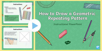 How To Draw An Islamic Geometric Repeating Pattern Instructional PowerPoint - Islamic patterns, Islamic art, 2D shapes, technical drawing, ks2 drawing, ks2 art, ks2 design.