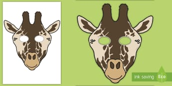 Giraffe Role Play Mask - safari, africa, zoo, india, animals,