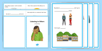 Listening to Others Social Situation - social story, social stories, listening, taking turns, active listening, conversation skills