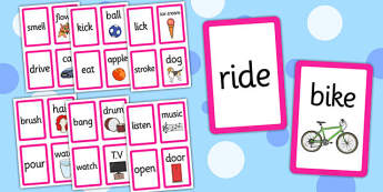 Match the Verb to the Object Cards - verb, object, match, cards