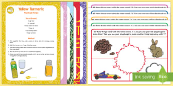 Phase 1 Phonics Colour and Alliteration Playdough Recipe and Mat Pack - EYFS, Phase 1, Aspect 5, Alliteration, letters and sounds, phonics, rainbow, initial letter sounds,