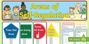 Areas of Self-Regulation Display Pack - zones of regulation, behaviour management, self awareness, emotions, behaviour strategies
