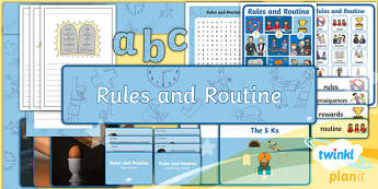 Planit - RE Year 2 - Rules and Routines Additional Resources - RE Rules and Routines, religious education, planning