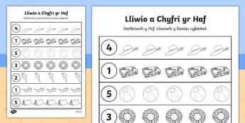Lliwio a Chyfri yr Haf Cymraeg - welsh, cymraeg, colour, count, summer