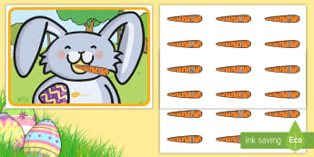 Feed the Easter Bunny Phase 2 Phonics Activity - EYFS, Early Years, KS1, Easter, Easter bunny, rabbit, phonics, phase 2, letter sounds, Letters and S