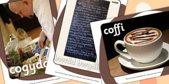 Cafe Display Photos Welsh Translation - roleplay, EAL, languages
