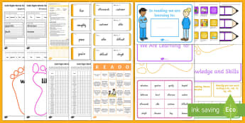 Gold Sight Words Resource Pack - NZ Literacy, gold, sight words, gold sight words, reading