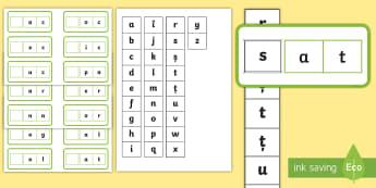 Cursoare pentru cuvinte CVC Activitate - abecedar, litere, consolidarea literelor, citirea cuvintelor, citire, clasa pregătitoare, Romanian