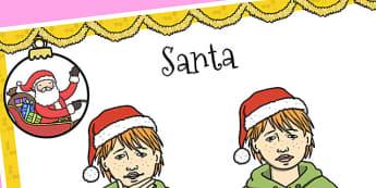 A4 British Sign Language Sign for Santa - sign language, santa