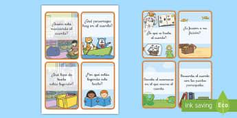 Tarjetas de trivial: Comprensión lectora - comprensión lector, comprensión lectora, comprensión, comprension, lectura, libros, leer, lee, le