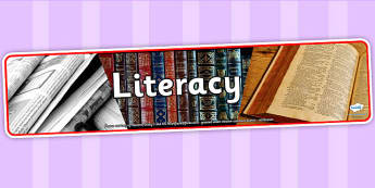 Literacy Photo Display Banner - literacy, english, banner, photo