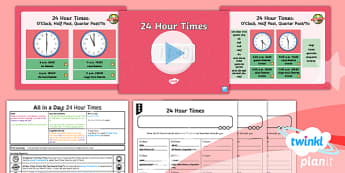 French: All in a Day: 24 Hour Times Year 6 Lesson Pack 4
