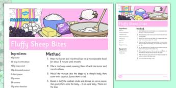 Fluffy Sheep Recipe - cooking, spring, eyfs, baking, fluffy sheep, recipe