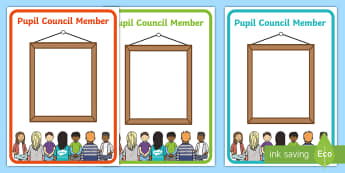 Editable Pupil Council Member Display Posters - Pupil council, school council, member, display, poster, edit, editable