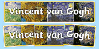 Van Gogh Display Banner - Vincent Van Gogh, art, artist, header, display, design