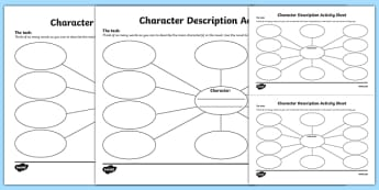 Character Description Activity Sheet Pack - Irish, worksheet
