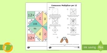 Comecocos: Multiplicar por 12 - juego, mates, matemáticas, por doce, x12