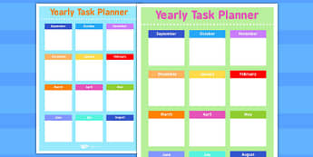 Yearly Task Planning Sheet - planning, task, sheet, yearly, plan