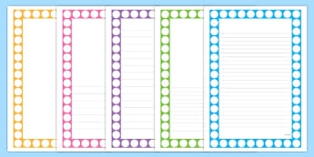 Number Shapes Page Borders - number shapes, page borders, page, border, writing frame