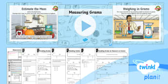 PlanIt Y3 Measurement Lesson Pack Mass (1) - Measurement, measure, scales, interval, grams, reading.