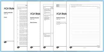 GCSE English Language Exam Paper 2 AQA - gcse, exam, english, language