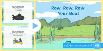 Row Row Row Your Boat - row row row your boat, rhyme, powerpoint