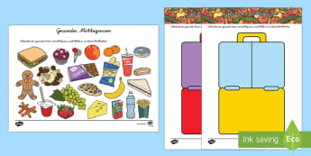 Healthy Eating Lunch Activity German - german, healthy, healthy eating, sort, activity, fruit, game, how to eat healthy, vegetable, healthy snack, lunch, snack time, snack, food, sorting