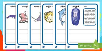 Barry the fish with fingers, under the sea, under the sea descriptive writing, sea creature descriptive writing template
