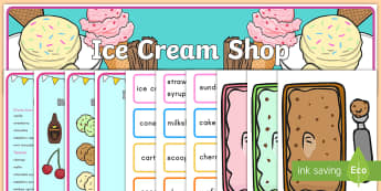 Ice Cream Shop Role Play Pack - ice cream, ice cream shop, role-play, role play, banner, posters, display, word cards