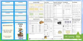Summer Holiday Transition Year 2 Moving into Year 3 Activity Pack - KS1 New Class Activities