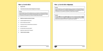 La famille Bélier fiche de lecture cinématographique - french, la famille, belier, film, reading, comprehension, language
