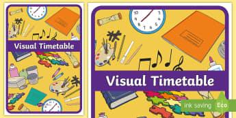 Visual Timetable Display Poster - Visual Timetable Display Poster - KS1, display ostre, learning poster, Daily Routine, visual timetab