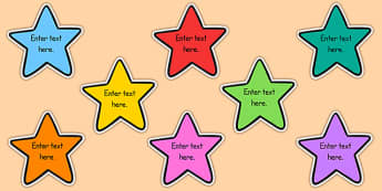 School Goals Editable Stars - school goals, editable, stars