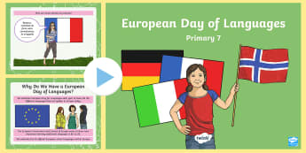 European Day of Languages Primary 7 PowerPoint - EDL, 26th September, information, quiz, diversity, celebration, europe,Scottish