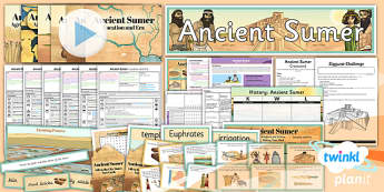 PlanIt - History UKS2 - Ancient Sumer Unit Pack Flipchart