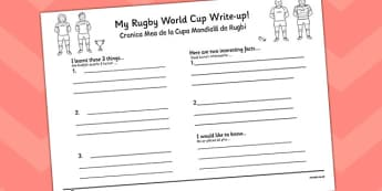 Rugby World Cup Write Up Worksheets Romanian Translation - romanian