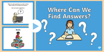 Where Can We Find Answers? PowerPoint - Primary Sources, History, ACHASSK044, inquiry, Questioning, Answers, research,Australia