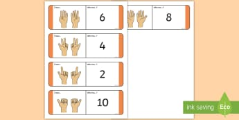 Finger Counting Doubles Loop Cards - Doubles, loop cards, Finger counting, finger patterns, Counting, ,Scottish