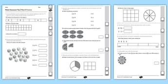 Year 3 Maths Assessment: Fractions Term 2 - year 3, maths, assessment