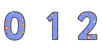 Birthday Themed A4 Display Numbers 2 - Birthday, Birthday Themed, Birthday Themed Display Numbers, A4 Display Numbers 2, A4 Birthday Display
