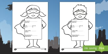 All About Me Superhero Writing Template English/Mandarin Chinese - Ourselves, All about me, family, Ks1, Y1, Year 1, EYFS, Reception, Growing, growth,  EAL