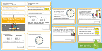 Year 1 and 2 Road Safety Reasoning Challenge Cards - Road safety, reasoning, year 1, year 2, numeracy, reasoning in the classroom
