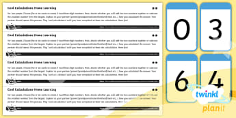 PlanIt Y4 Addition and Subtraction Cool Calculations Differentiated Home Learning Tasks  -  mental calculations, strategy, compensation, partitioning, near doubles, differentiated