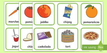 Karty do sortowania Zdrowe czy niezdrowe - sortowanie, karty, pożywienie, żywność, zdrowe, odżywianie, jedzenie, owoce, warzywa, karty, ob