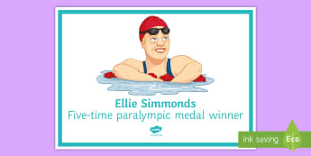 Ellie Simmonds A4 Display Poster - Disability awareness, Disability, discrimination, respect, tolerance, special needs